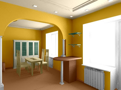 Color Options for Interior Design: Colorize 3D Image in AKVIS
