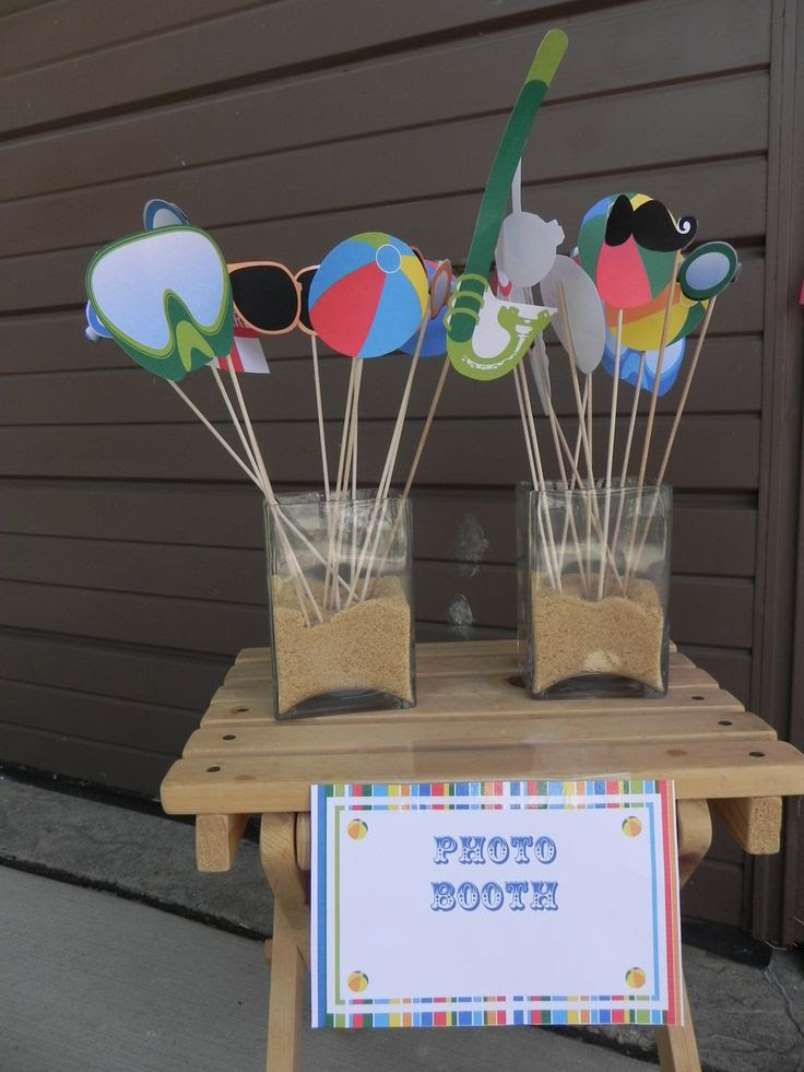 Pool Party Photo Booth Prop Ideas