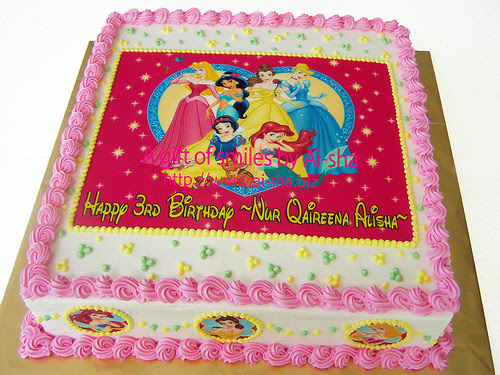 Birthday Cakes Edible Image Disney Princess Ai-sha Puchong Jaya