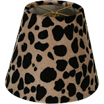 Royal Designs Leopard Silk 5-inch Chandelier Lamp Shades (Set of 6)