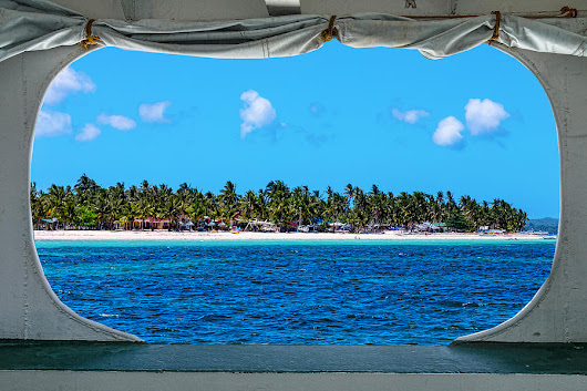 Tropical Island Boat Window View  by James BO Insogna