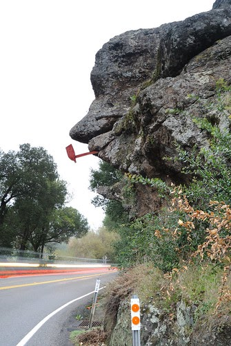 Highway Signs For Sale >> The NorCal Explorer: Napa's Old Man Rock on Monticello Road