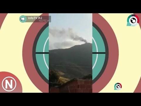 Veja os primeiros momentos do incêndio nas tores de telecom do mendanha. [Vídeo]