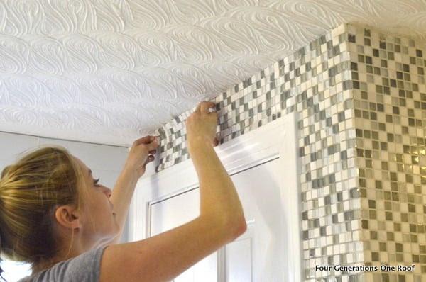 how to tile a bathroom wall {tutorial}