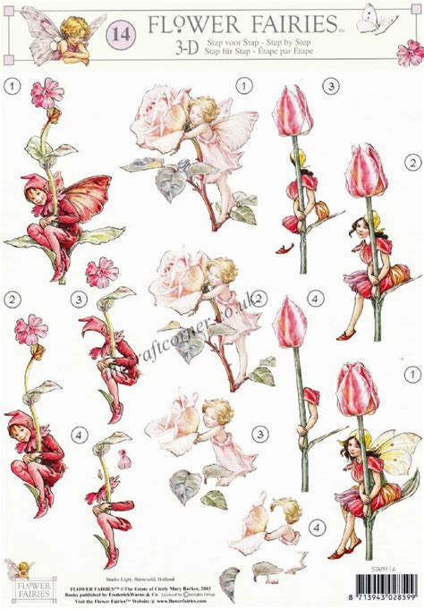 Flower Fairy 14 Tulip Rose & Red Campion Flower Fairies by