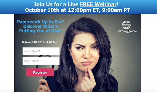 [FREE] Webinar: Paperwork up to par?? Discover what's putting your practice at risk!