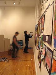 Hanging work at the Arnheim, Feb. 19