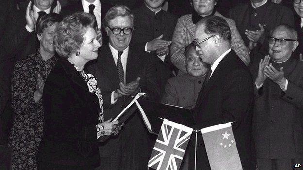 Howe, Margaret Thatcher & Deng Xiaoping