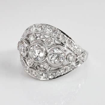Art Deco Vintage 1930's Old European Cut Diamond Filigree