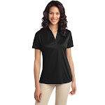 Port Authority L540 Ladies Silk Touch Performance Polo - Black