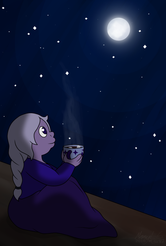 It's 9 hours past midnight from the 25th of December itself, but either way have a cozy little cocoa-drinking-braid-wearing-blanket-snuggled Amethyst for the holidays! I personally celebrate Christmas...