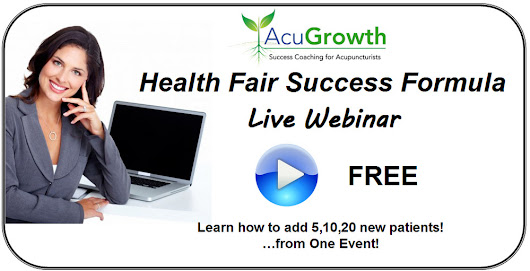 Health Fair Success Formula - Grab These Tools! | Acupuncture Technology News