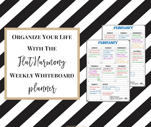 Organize Your Life with the Flat Harmony Weekly Whiteboard Planner | SpikedParenting