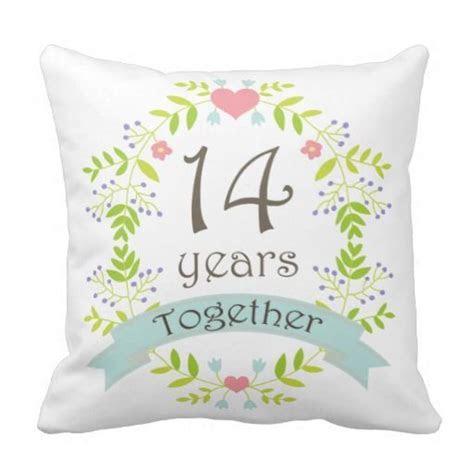 14th Anniversary Gift Throw Pillow   Anniversary T shirts