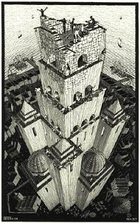 The Tower of Babel, by M.C. Escher