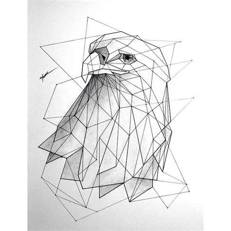 eagle geometric drawing google design pinte