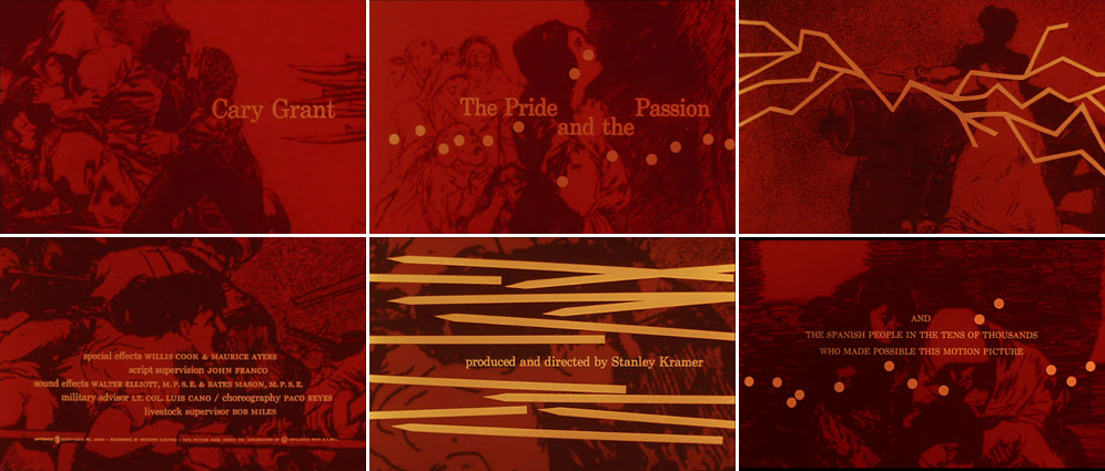 Saul Bass The pride and the passion 1957 title sequence