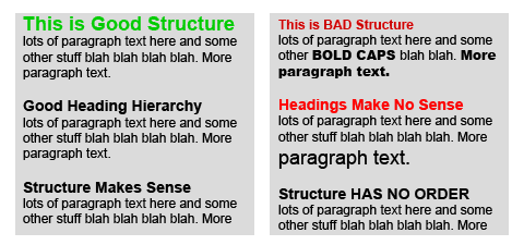 semantic content structure