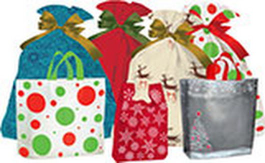 Holiday Shopping Bags | Christmas Shopping Bags Wholesale