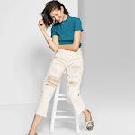 Women's Short Sleeve Mock Turtleneck T-Shirt - Wild Fable Teal