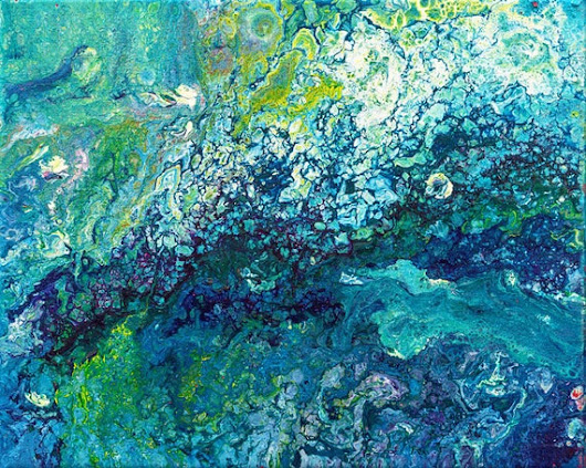 Art print abstract painting turquoise painting art poster