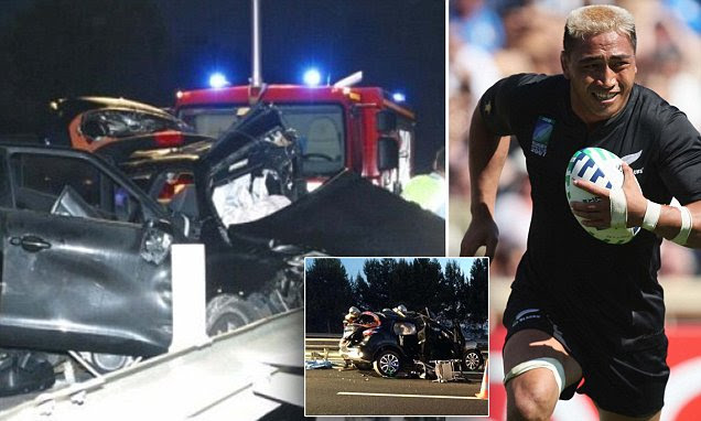 Former All Black rugby star Jerry Collins and wife killed in car crash in France and baby
