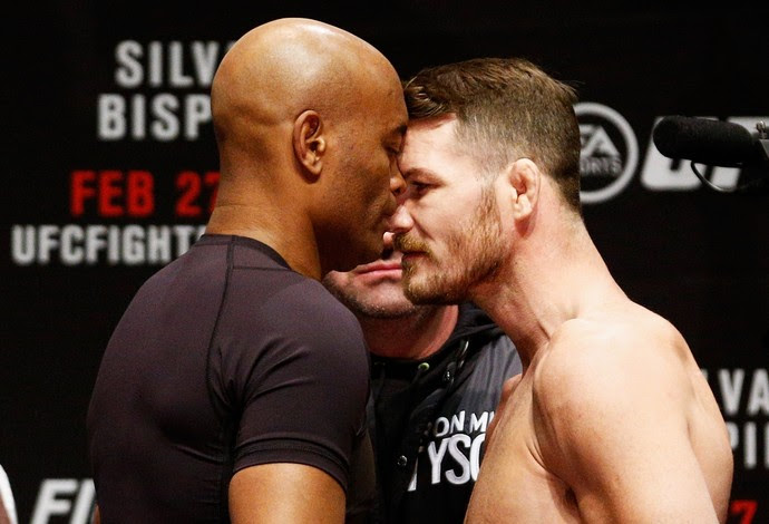 Anderson Silva x Michael Bisping encarada UFC Londres MMA (Foto: Getty Images)