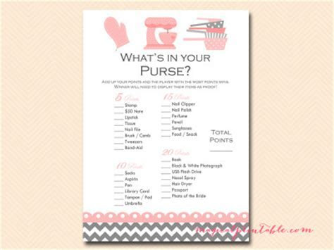 Kitchen Theme Bridal Shower Game Pack   Magical Printable