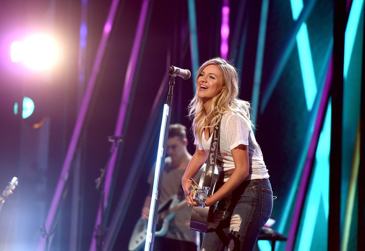 LAS VEGAS, NV - MARCH 30:  Singer/songwriter Kelsea Ballerini rehearses onstage during for the 52nd Academy Of Country Music Awards at T-Mobile Arena on March 30, 2017 in Las Vegas, Nevada.  (Photo by Kevin Winter/ACMA2017/Getty Images for ACM)