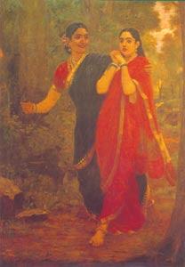 Raja Ravi Varma (1848 - 1906) - Draupati and Simihka, Sri Chitra Art Gallery, Thiruvananthapuram