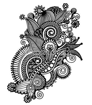 Black And White Flower Design Clipartsco