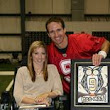 Katy Blake meets Drew Brees, delivers Saints-inspired painting