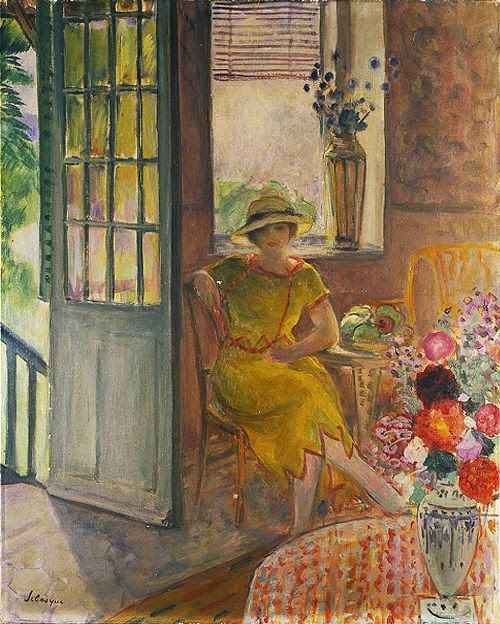 poboh:  Nono in a Yellow Dress, Henri Lebasque. French (1865 - 1937)