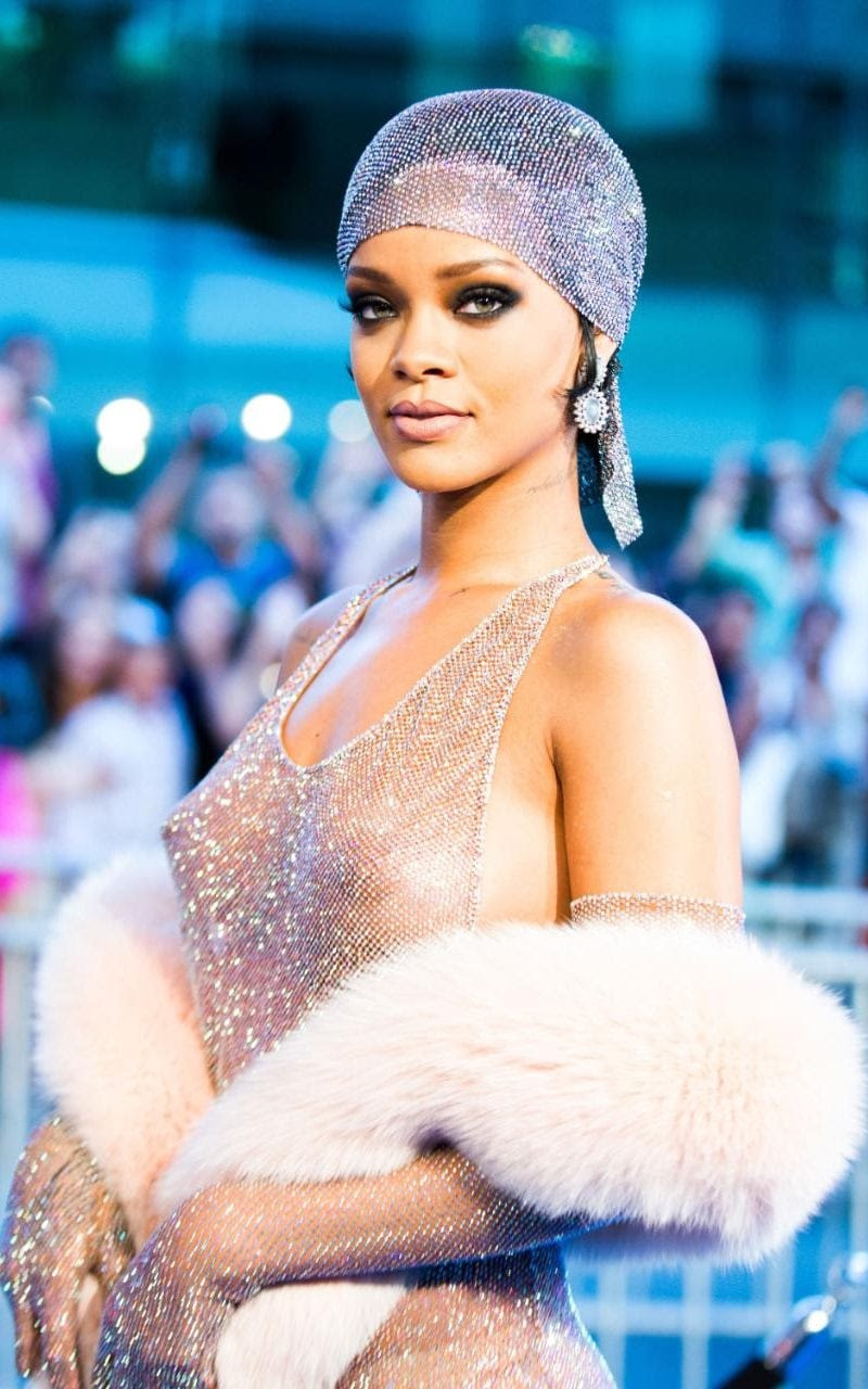 Rihanna in Adam Selman at the CFDAs