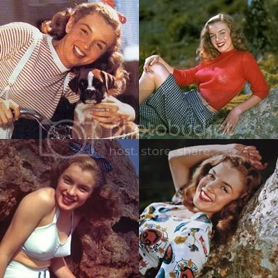 young full color Marilyn Monroe as Norma Jean