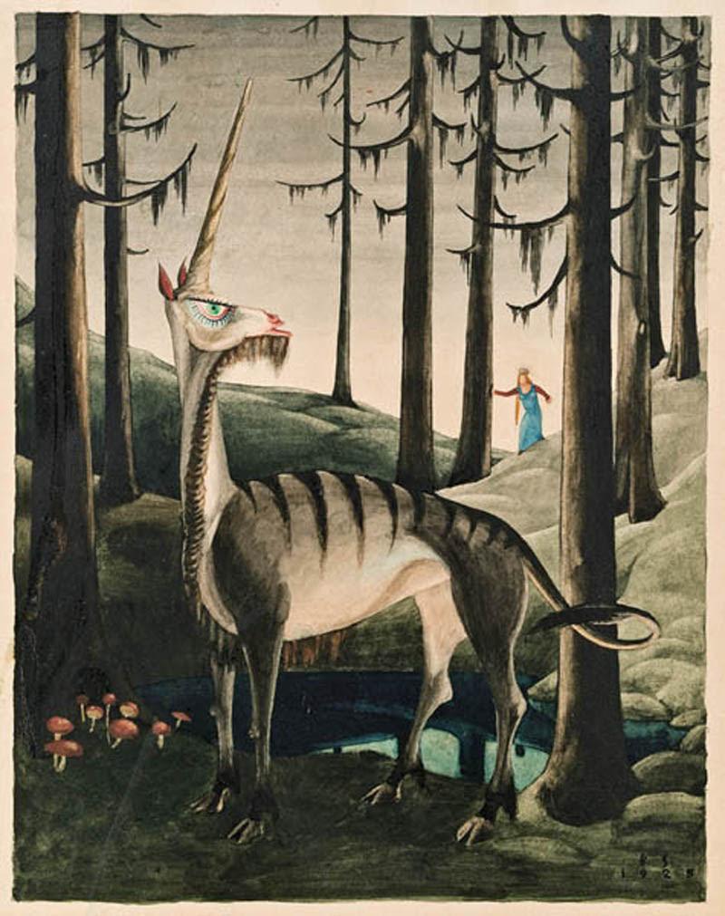 Franz Sedlacek - The Unicorn, 1925