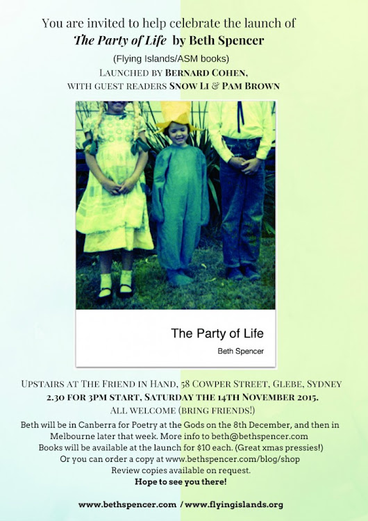 New! -- 'The Party of Life' -- come celebrate the launch
