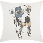 Mina Victory Trendy, Hip, & New Age Glitter Dalmation Gold Throw Pillow - Nourison JB073