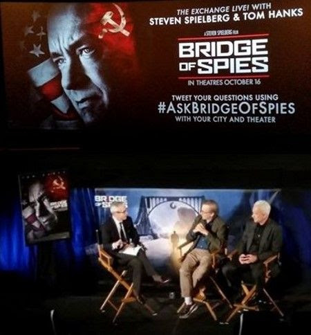 Bridge of Spies Screening and Panel Interview with Tom Hanks and Steven Spielberg