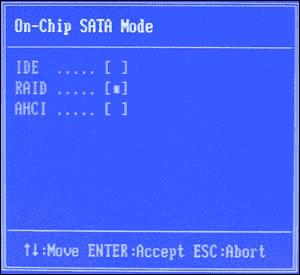 Bios Raid Mode
