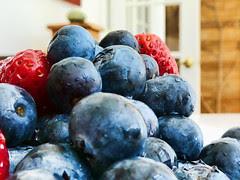 wet pile of berries