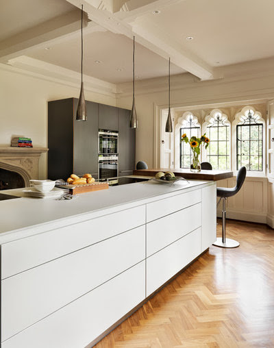Kitchen Of The Week A Slick Modern Design In A Beautiful Period Of Space Small Kitchen Design Minimalis