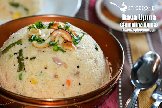Rava Upma (Semolina Upma) - The Spice Zone
