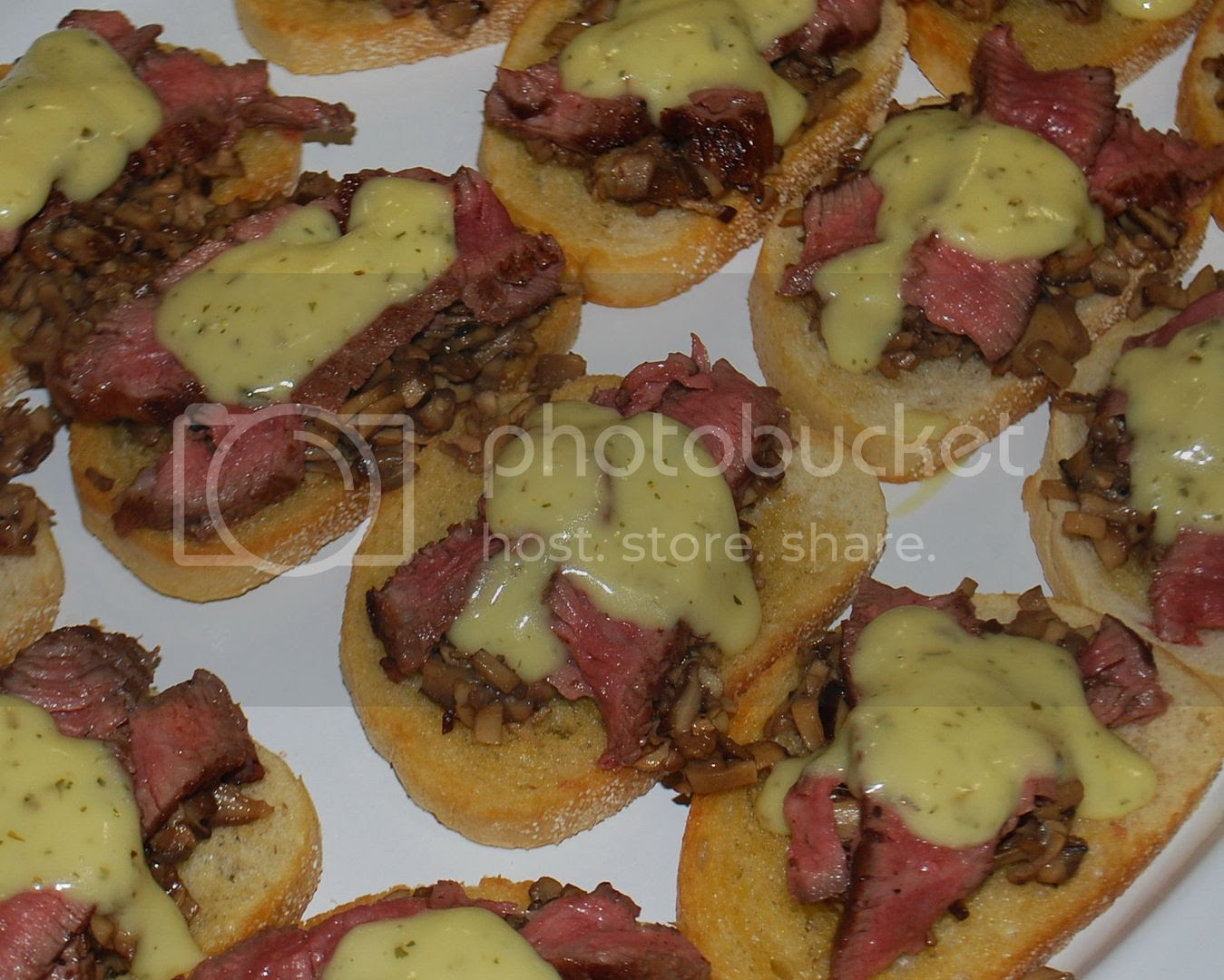 Beef & Mushroom Duxelle Crostini