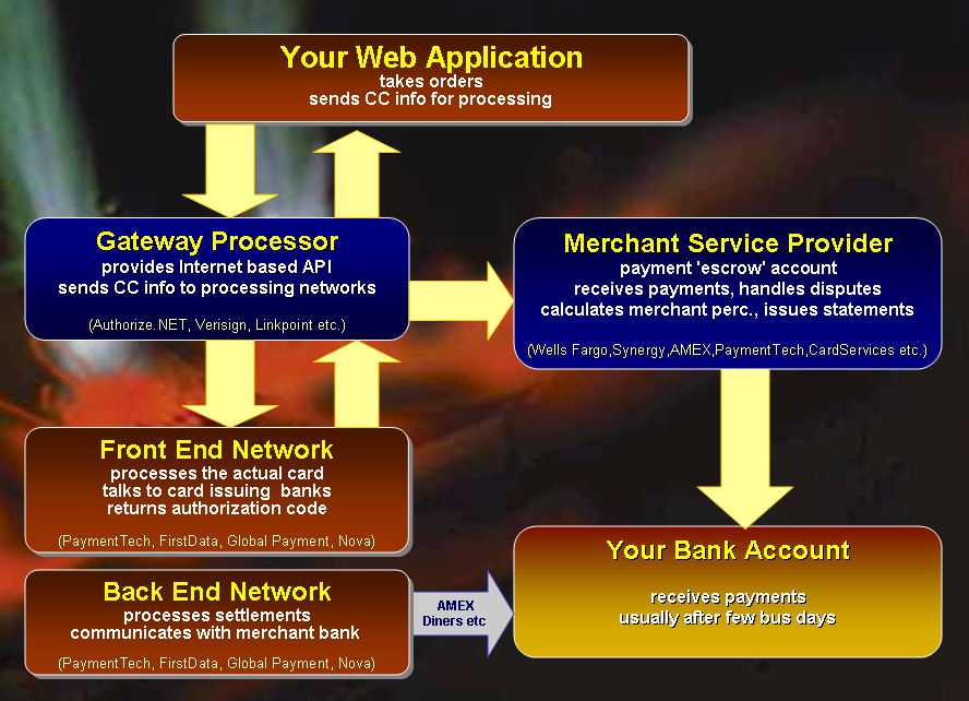 Credit Card Electronic Payment Processing with ASP.NET