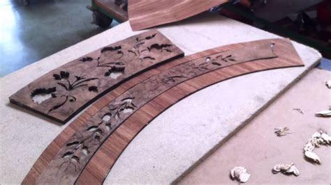 hand cutting  crafting italian inlaid wood table top