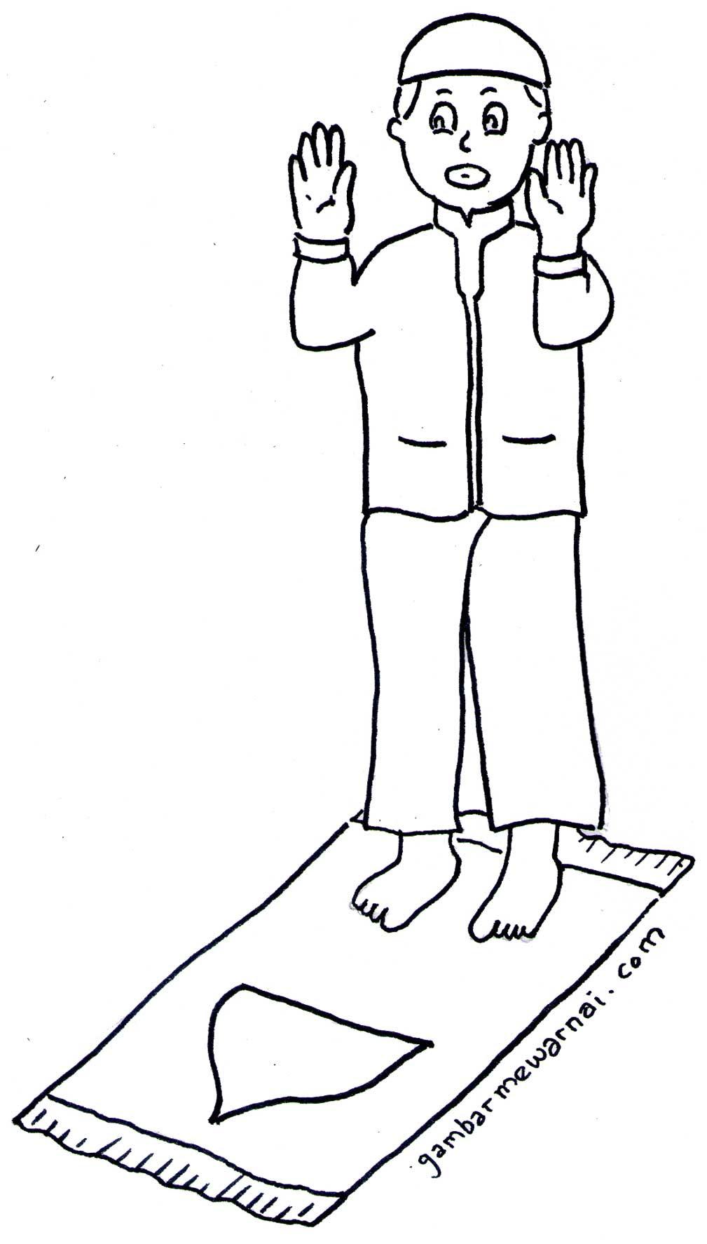 Gambar Ilustrasi Orang Sholat Hilustrasi