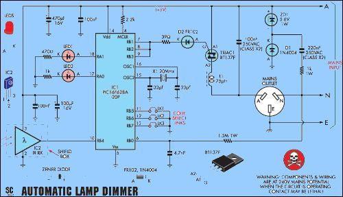 auto-mờ-Chỉ-RFI-ức chế-mờ-dimer-PIC16F628