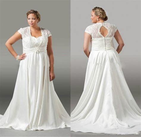 Elegant Plus Size Wedding Dresses Lace Pleated 2016 Spring