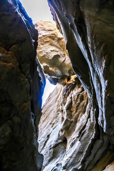 Slot canyon anza borrego